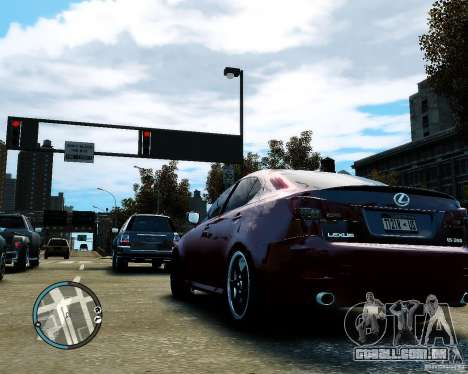 Lexus IS350 2006 v.1.0 para GTA 4 vista de volta