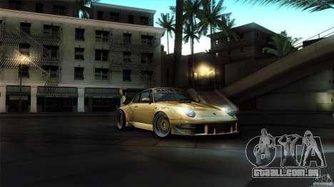 Porsche 993 RWB para vista lateral GTA San Andreas