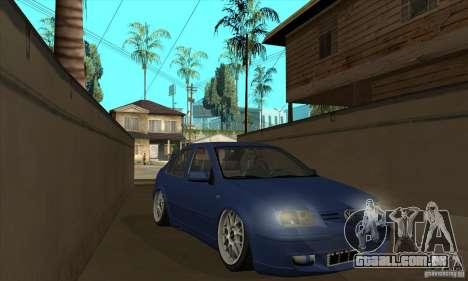 VW Bora VR6 Street Style para GTA San Andreas vista traseira