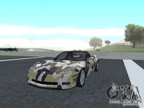 Chevrolet Corvette Z06 para GTA San Andreas interior