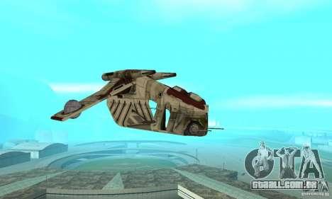 República Gunship de Star Wars para GTA San Andreas vista traseira