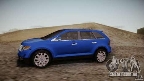 Ford Edge 2010 para GTA San Andreas esquerda vista