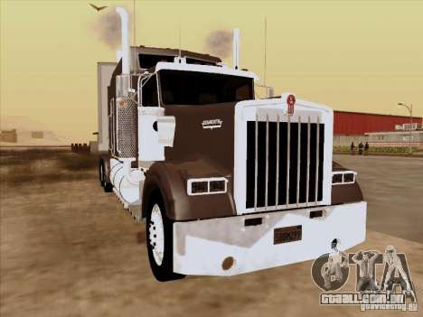 Kenworth W900 Long para GTA San Andreas esquerda vista