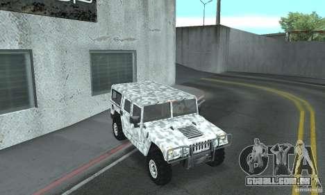 Hummer H1 para GTA San Andreas vista inferior