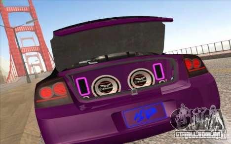 Dodge Charger SRT 8 para GTA San Andreas traseira esquerda vista