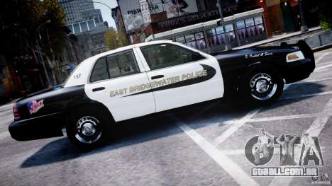 Ford Crown Victoria Massachusetts Police [ELS] para GTA 4 esquerda vista