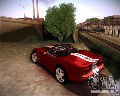 Shelby Series One 1998 para GTA San Andreas vista direita