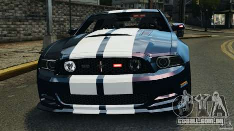 Ford Mustang 2013 Police Edition [ELS] para GTA 4 vista inferior