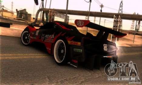 Pagani Zonda R para GTA San Andreas vista interior