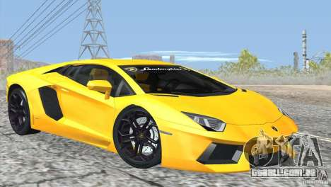 Lamborghini Aventador LP700-4 2012 para GTA San Andreas vista superior