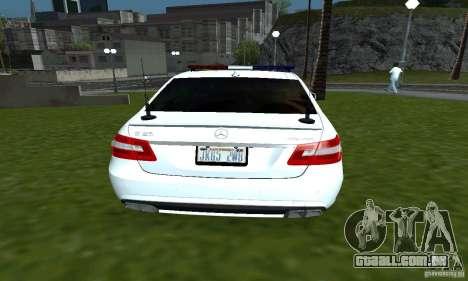 Mercedes-Benz E63 DPS para GTA San Andreas traseira esquerda vista