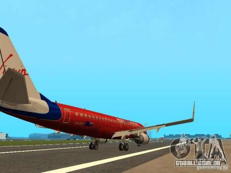 Embraer ERJ 190 Virgin Blue para GTA San Andreas vista direita