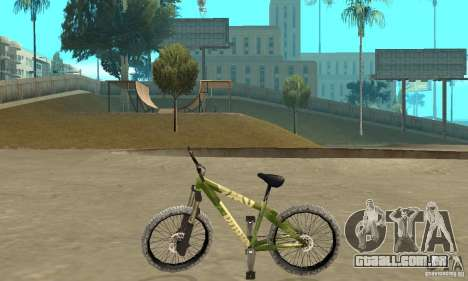 Hardy 3 Dirt Bike para GTA San Andreas esquerda vista