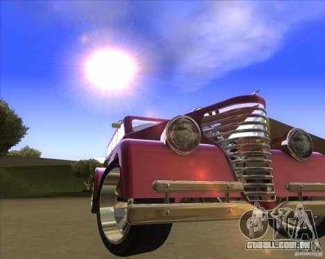 Custom Woody Hot Rod para GTA San Andreas vista traseira