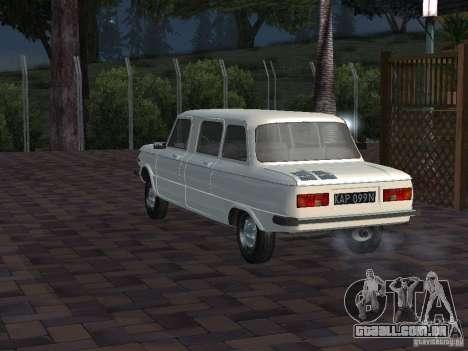 ZAZ 968M Limousine para GTA San Andreas vista traseira
