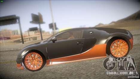 Bugatti Veyron Super Sport para vista lateral GTA San Andreas