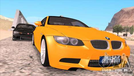 BMW M3 E92 para as rodas de GTA San Andreas