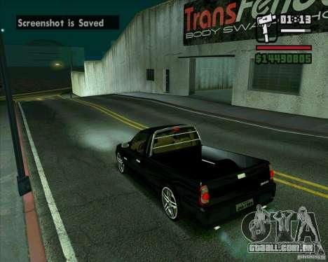 VW Saveiro G4 1.8 para GTA San Andreas traseira esquerda vista