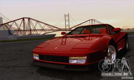 Ferrari Testarossa 1986 para GTA San Andreas vista traseira