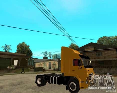 KAMAZ 5460M TAI versão 1.5 para GTA San Andreas vista direita