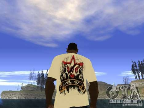 NoGGano228 t-shirt e AK 47 para GTA San Andreas terceira tela