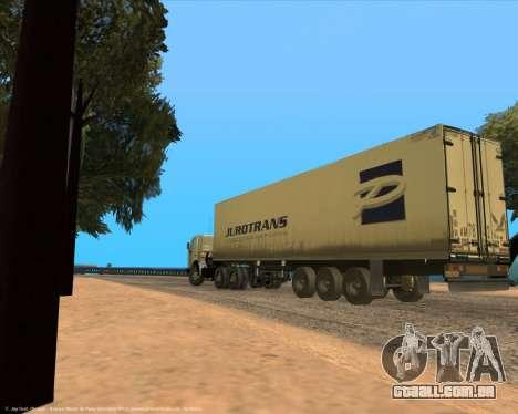 Semi-reboque para GTA San Andreas traseira esquerda vista