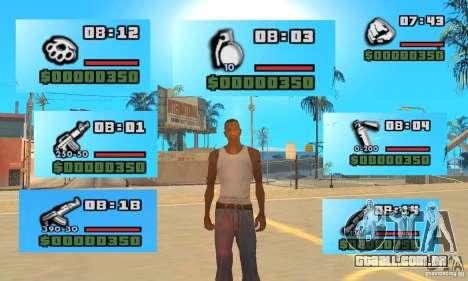 New Weapon Icon Pack para GTA San Andreas