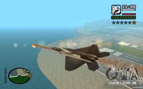 Hydra, mod Panzer para GTA San Andreas quinto tela