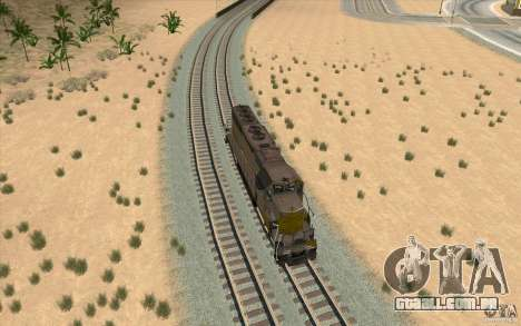 Clinchfield SD40 (Yellow & Grey) para GTA San Andreas vista direita