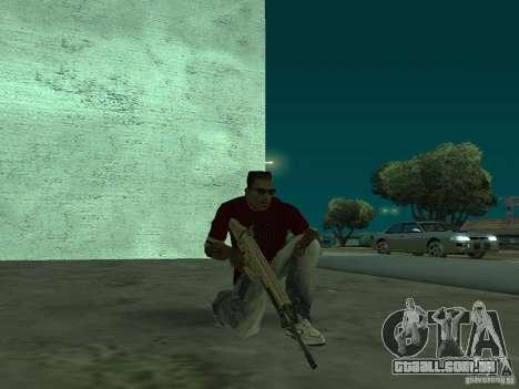 FN Scar-L HD para GTA San Andreas quinto tela