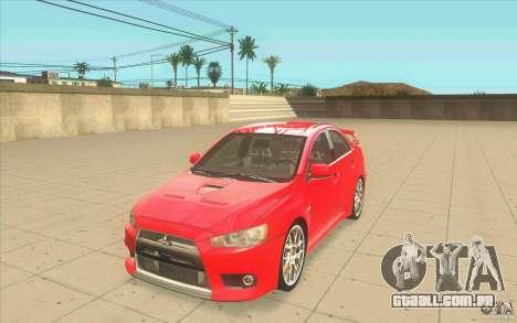 Mitsubishi Lancer Evolution X MR1 para GTA San Andreas