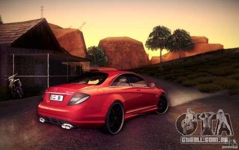 Mercedes Benz CL65 AMG para GTA San Andreas vista traseira
