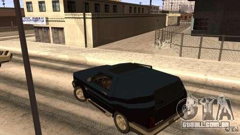 Sandking EX V8 Turbo para GTA San Andreas vista traseira