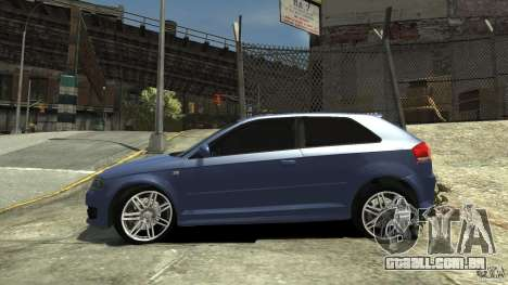 Audi S3 2006 v 1.1 tonirovanaâ para GTA 4 esquerda vista