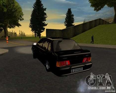 TJK VAZ 2115 para GTA San Andreas esquerda vista