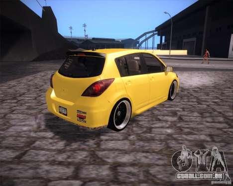 Nissan Versa Tuned para GTA San Andreas traseira esquerda vista