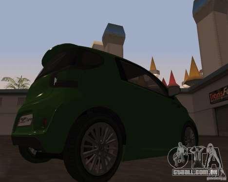 Aston Martin Cygnet Concept 2009 V1.0 para GTA San Andreas esquerda vista