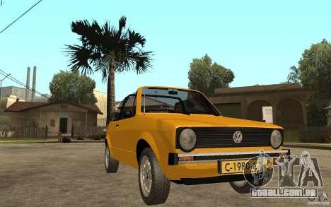 Volkswagen Golf MK1 Cabrio para GTA San Andreas vista traseira