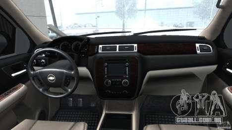 Chevrolet Tahoe 2007 para GTA 4 vista direita