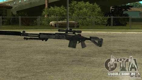 EBR MK14 com silenciador para GTA San Andreas por diante tela