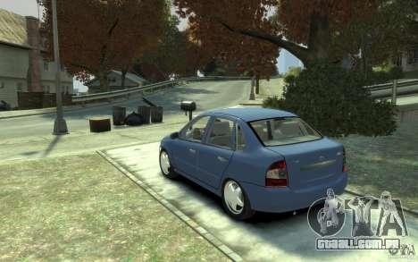 Lada VAZ 1118 Kalin para GTA 4 traseira esquerda vista