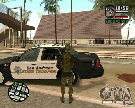 Praice pele de COD 4 para GTA San Andreas quinto tela