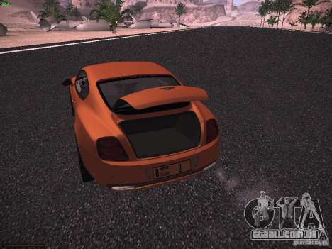 Bentley Continetal SS Dubai Gold Edition para vista lateral GTA San Andreas