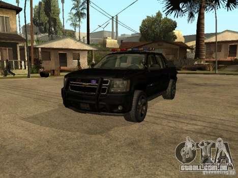 Chevrolet Avalanche Police para GTA San Andreas