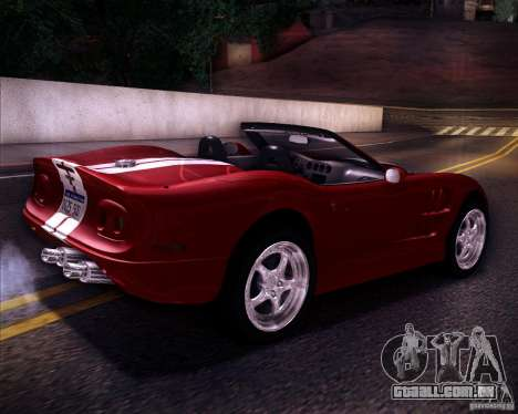 Shelby Series One 1998 para GTA San Andreas esquerda vista