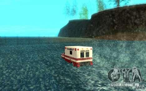 Ambulan boat para GTA San Andreas traseira esquerda vista