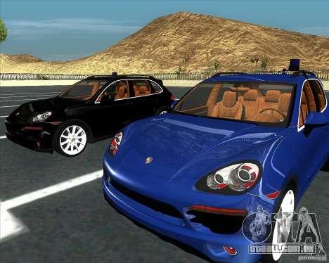 Porsche Cayenne 958 v1.1 para GTA San Andreas traseira esquerda vista