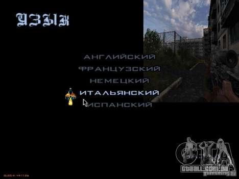 Menu principal-estilo Stalker para GTA San Andreas por diante tela