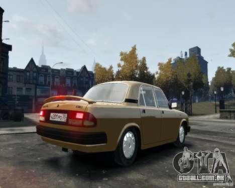 Volga GAZ 3110 para GTA 4 vista direita