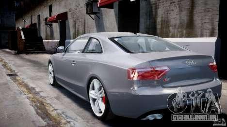 Audi S5 v1.0 para GTA 4 traseira esquerda vista
